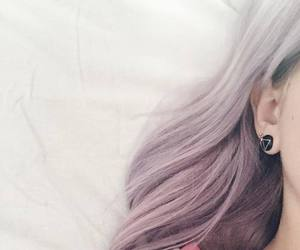 colored hair, dyed hair, and pale image