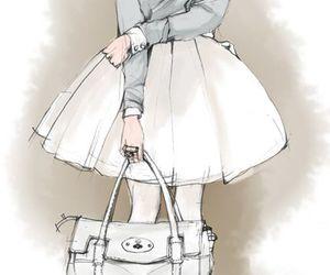 fashion, illustration, and drawing image