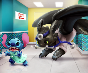 cute!, chimuelo, and stich image