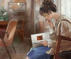art, anime, and book image