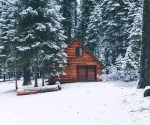 winter, snow, and house image