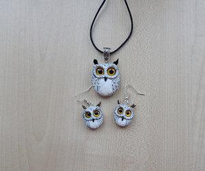 women's jewelry, animal jewelry, and owl totem image