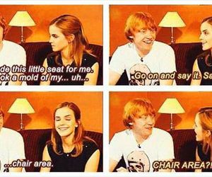 harry potter, emma watson, and funny image