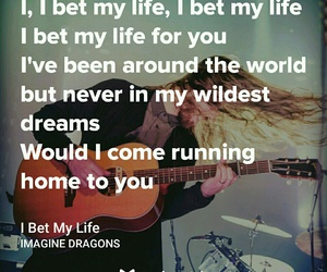 imagine dragons, ❤, and i bet my life image
