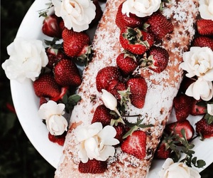 food, red, and strawberry image