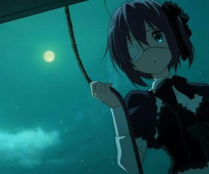 anime, rikka takanashi, and night image