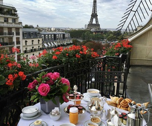paris, travel, and breakfast image