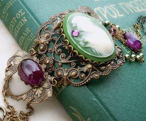 vintage, bracelet, and book image
