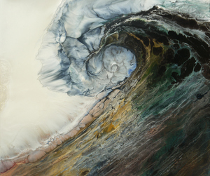 waves, art, and ocean image