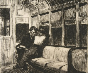 art, couple, and train image