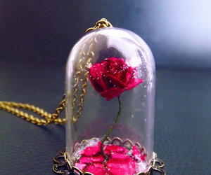 rose, necklace, and flower image