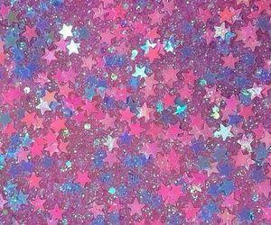 stars, pink, and glitter image
