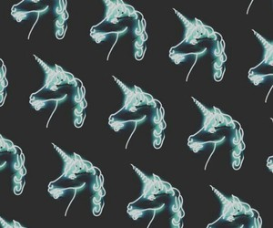 unicorn, wallpaper, and blue image