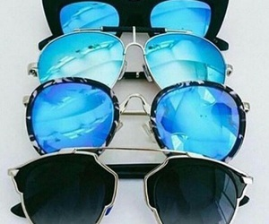 blue, sunglasses, and summer image