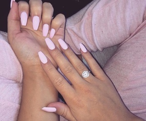 hands, pale, and pink image