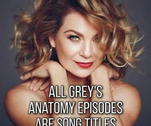 greys anatomy, song, and facts image