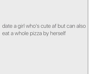 date, girl, and pizza image