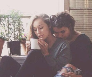 bisexual, coffee, and cuddling image