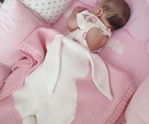 baby, pink, and baby girl image