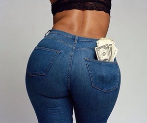 buns, jeans, and styled image
