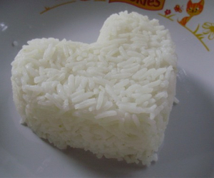 rice, heart, and food image