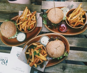 fast food, fries, and restaurant image