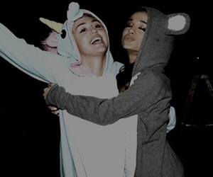 miley cyrus and ariana grande image