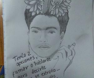 Frida, drawing, and cigarro image