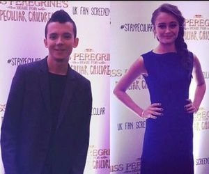 asa butterfield, ms peregrine, and elle purnell image
