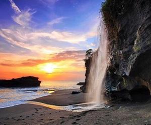 beach, sunrise, and vacation image