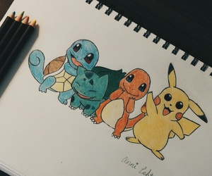 art, drawing, and squirtle image