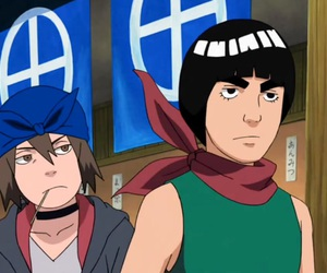 anime, hinata, and rock lee image