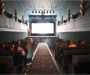 movie theater, movies, and old movie theater image