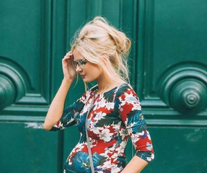 dress, pregnant, and beautiful image