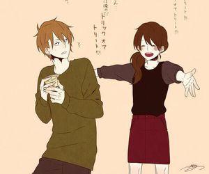 hug, anime, and couple image