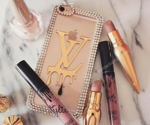 makeup, lipstick, and iphone image