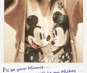 mickey, minnie, and love image