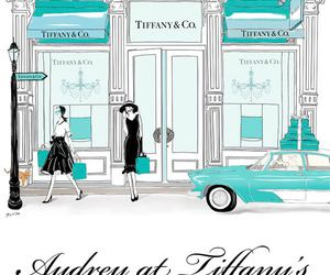audrey hepburn, blue, and Breakfast at Tiffanys image