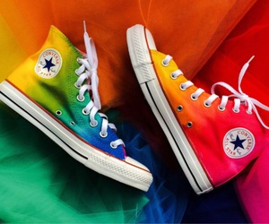 converse, rainbow, and colors image
