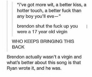 brendon urie, patd, and ryan ross image