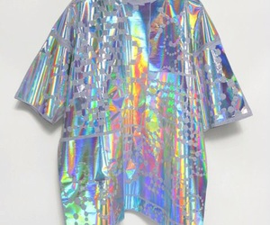 holographic, grunge, and rainbow image