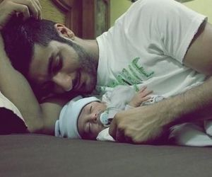 baby, boy, and father image