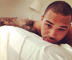 chris brown, Hot, and straight outta bed image