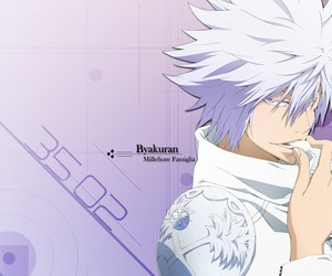 katekyo hitman reborn, byakuran, and millefiore image