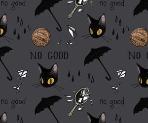 black, black cat, and Halloween image