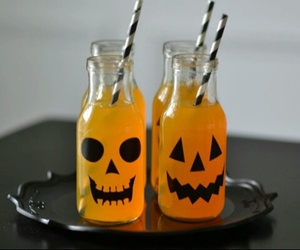 Halloween, pumpkin, and drink image