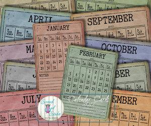 calendar, calendars, and etsy image