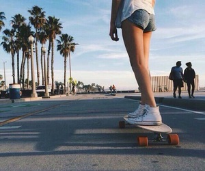 summer, girl, and skate image