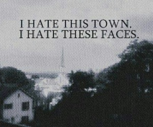 hate, town, and face image