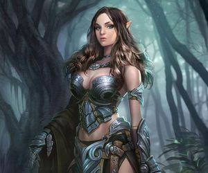armor, art, and elf image